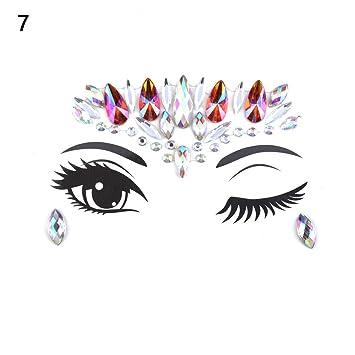 6c470a80943 Amazon Com 1pc Christmas Diy Eyebrow Adhesive Crystal Glitter Art