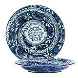 1 Piece of Japanese 7.75'' Diameter Porcelain Namako Floral Dinner Serving Plate