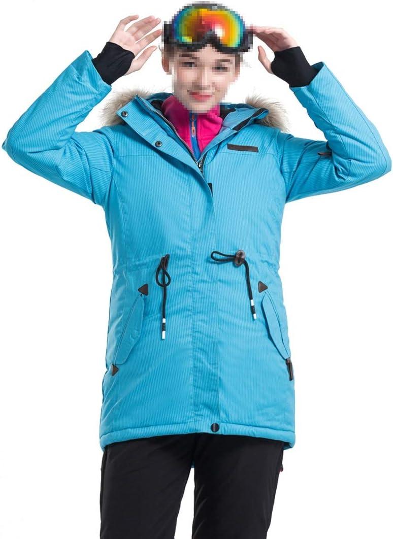 女性のスキージャケットハイ防風防水技術スノージャケット (Color : ブルー, サイズ : M) ブルー Medium