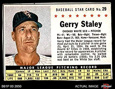 1961 Post Cereal   29 Gerry Staley Chicago White Sox (Baseball Card) (BOX a5662ef8c785