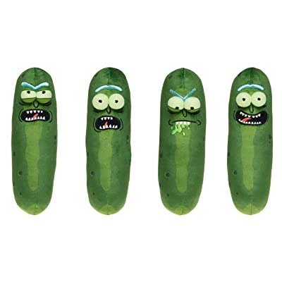 """Plush Galactic 7\"""" Pickle Rick (Complete Set of 4) Scared, Annoyed, Biting Lip, & Excited: Toys & Games [5Bkhe2001802]"""