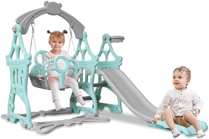 Infant Playset for Indoors /& Outdoor Pink Mosunx Toddler /& Kids Slide and Swing Set