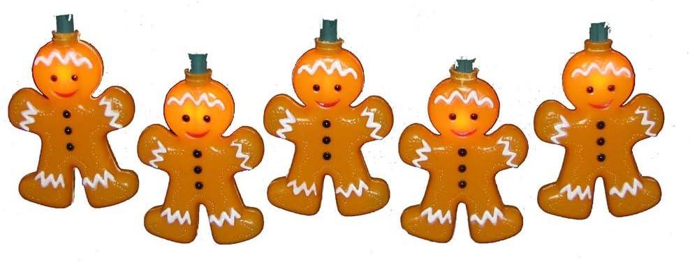 Kurt Adler 10-Light Gingerbread Light Set