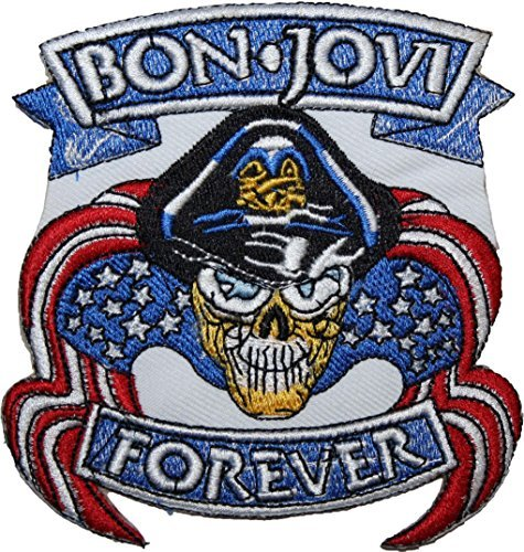 Bon Jovi Forever EMBROIDERED PATCH Badge Iron-on, Sew On 4
