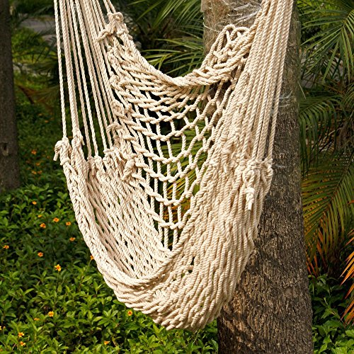 amazon     z ztdm cotton rope hammock cradle chair sky chair with wood stretcher for front door outdoor patio yard swing chair hammock beige   garden  u0026     amazon     z ztdm cotton rope hammock cradle chair sky chair      rh   amazon
