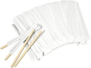 Amkoskr 1000Pcs Disposable Wood Coffee Stir Sticks Stirrers Individually Paper Wrapped Coffee Tea Beverage Stirrers Stirrings 5.5 Inch,140mm