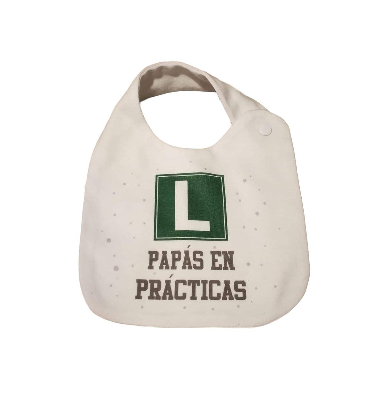 CAJA PACK PRACTICAS CON CHUPETE + BODY MANGA LARGA + BABERO BEBÉ FRASE REGALO RECIEN NACIDO REGALO PADRE REGALO MADRE REGALO PRIMERIZOS (1 MES, ...