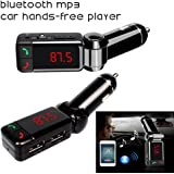 BlueTooth HandFree FM Transmitter with USB CHARGER for iphone / samsung Galaxy Wireless FM Radio Music Transmitter for iPhone 6 / 7 / 5 / 5s / 5c 4 4S HTC NOKIA SAMSUNG LG iphone 6 iPod 5th