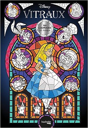 Coloriage Disney Grand Format.Amazon Fr Disney Vitraux Jean Luc Guerin Livres