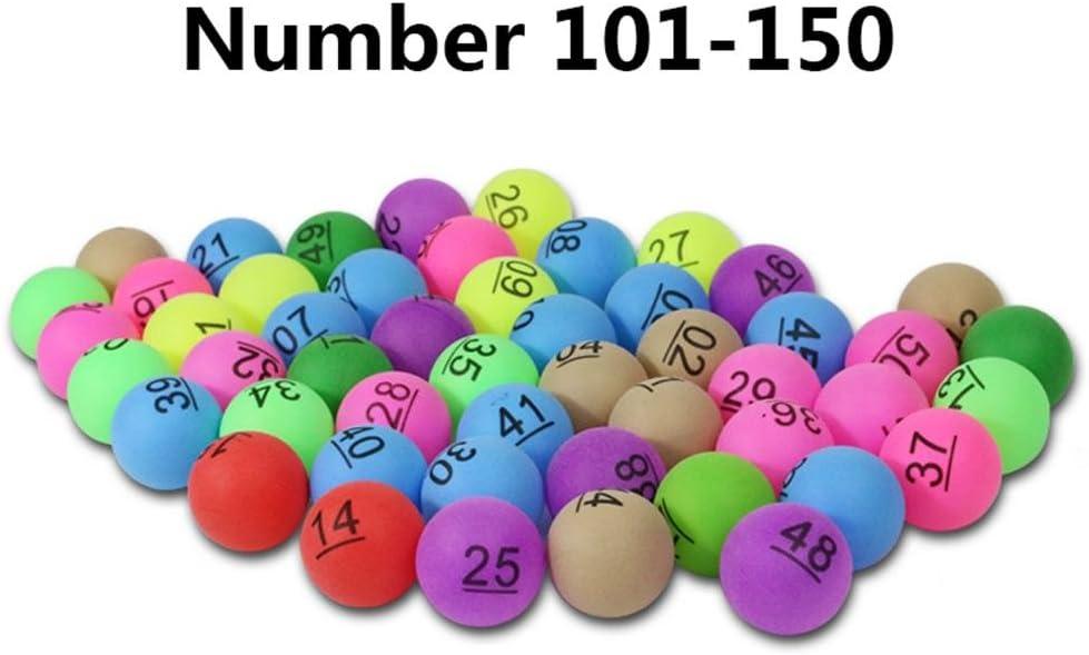 kingpo 50Pcs 2.4g Entrenamiento publicitario Bolas de lotería Entretenimiento Colorido Tenis de Mesa y Juegos de lotería Publicidad Digital Table Tennis PP Material