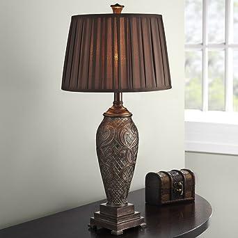 Aiehua European Style Tischlampe Schreibtischlampe Retro Hochzeit Gorgeous  Klassische Luxus Tischlampe Schreibtischlampe Amerikanisch Geschnitzte  Muster