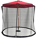 eXXtra Store Outdoor Umbrella Cover Insect Bug Mosquito Net Patio Netting Table Screen 9/10FT + eBook