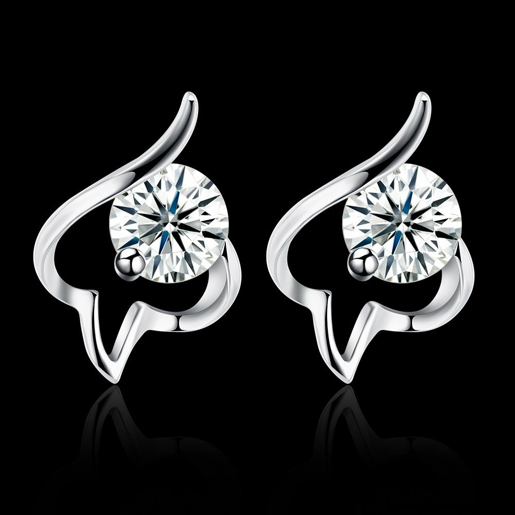 Color 16 Cinlan S925 Sterling Silver Fashion Classic Stud Earrings