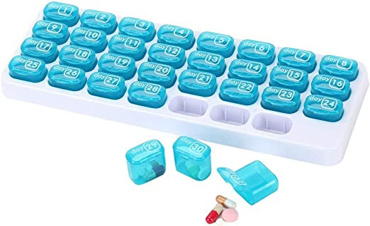SSTQY Organizadores de Pastillas BPA Caja de Pastillas Gratis Gran ...