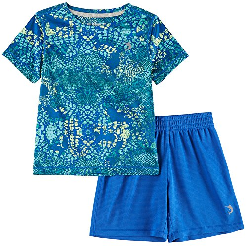 Reel Legends Baby Boys Reel-Tec Webscales Shorts Set 24 Months Blue/Green