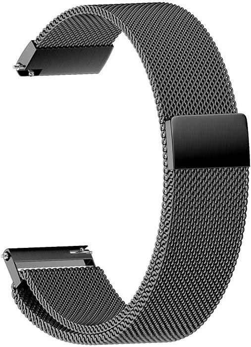 JiaMeng Metal Correas para Cintas magnéticas milanesas, Acero Inoxidable Banda de la Correa de Reloj del Lazo