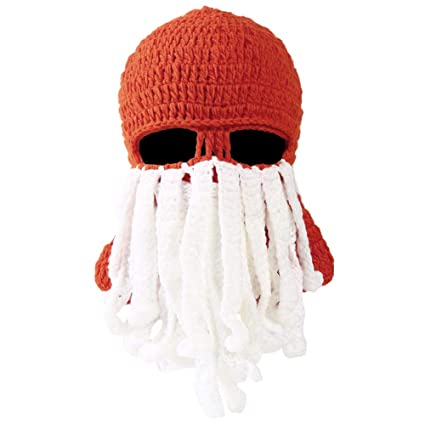 d7ea9c6205d Vbiger Beard Hat Beanie Hat Knit Hat Winter Warm Octopus Hat Windproof  Funny for Men   Women One Size Green at Amazon Men s Clothing store
