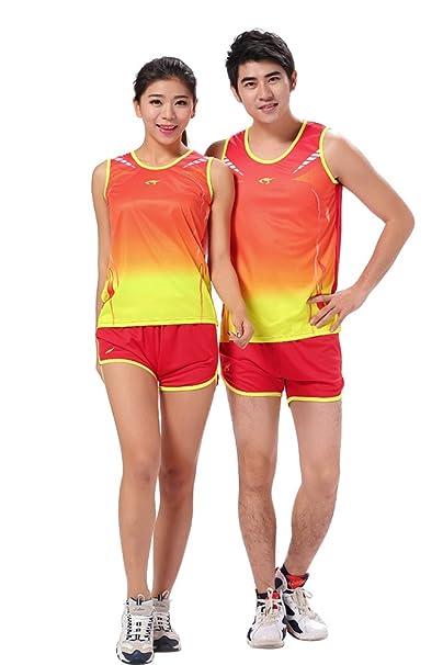 ZEVONDA Mujer Hombres Sin Mangas Casual Camiseta Pantalones Cortos de Ropa  Deportiva para Running Fitness Correr Entrenamiento  Amazon.es  Ropa y  accesorios 54f92088f93cc