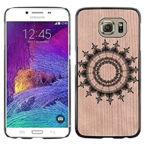 // MECELL CITY PRESENT // Cool Funda Cubierta Madera de cereza Duro PC Teléfono Estuche / Hard Case for Samsung Galaxy S6 /// Abstract Pattern Symmetrical ///