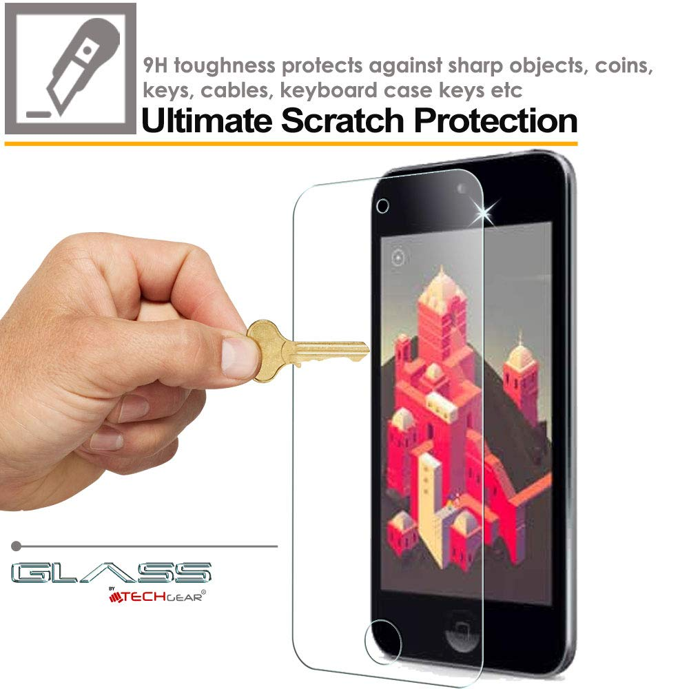 GLASS Edition Genuine Tempered Glass Screen Protector Guard Cover Compatible with Apple iPod Touch 7//6 TECHGEAR Screen Protector for iPod Touch 7 /& 6 iPod Touch 7th 6th Generation