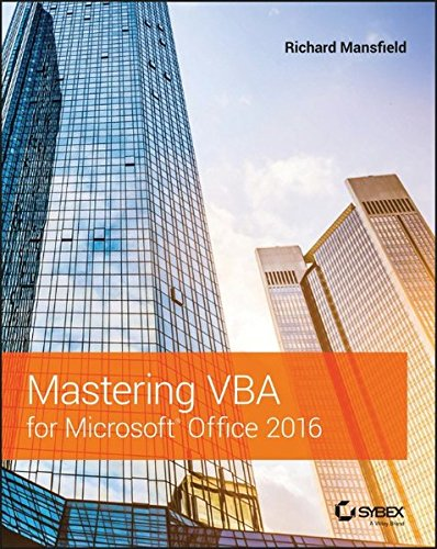 Mastering VBA for Microsoft Office 2016 by WILEY ACADEMIC