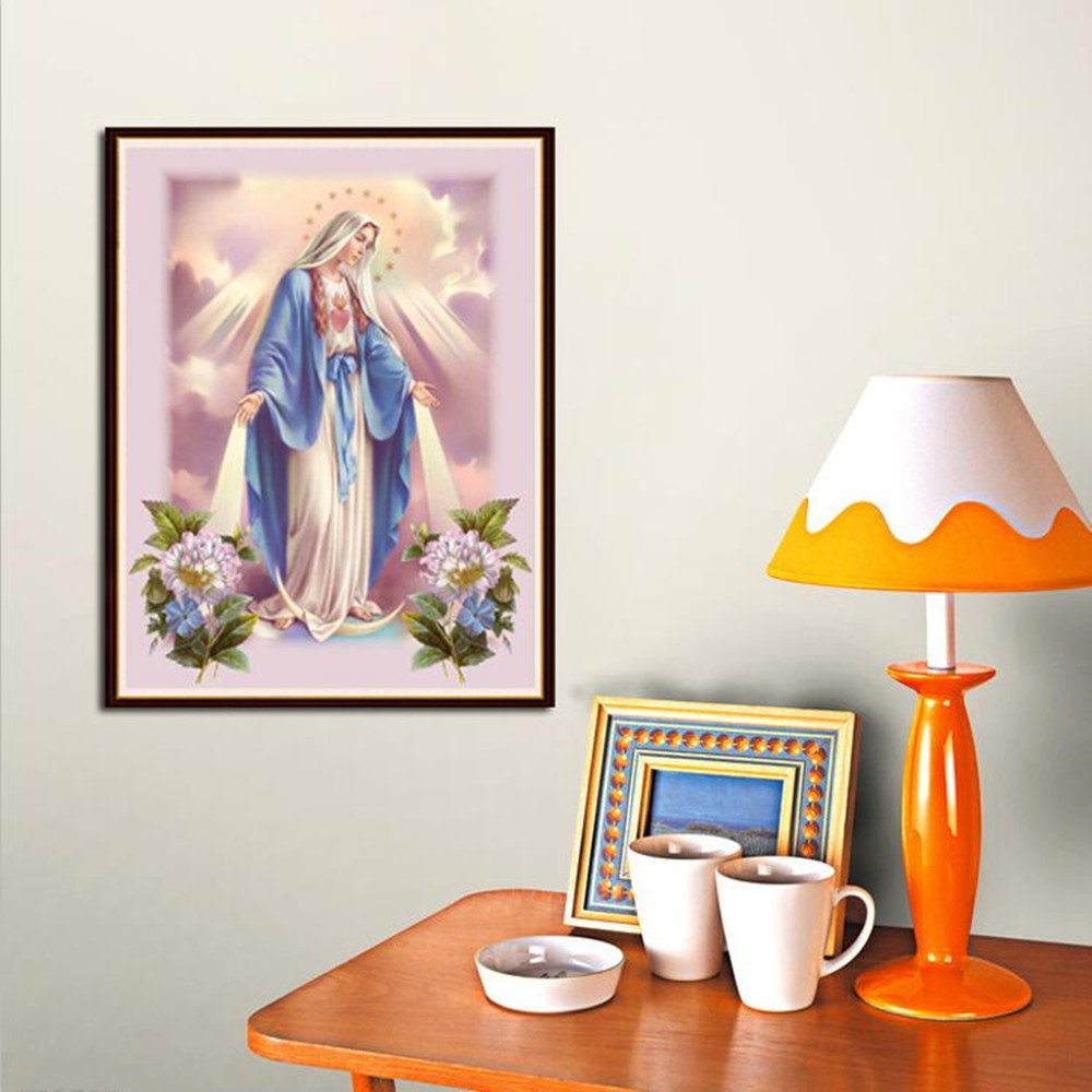 YaYiYo DIY Full Diamond Painting Christian Jesus Virgin Mary Living Room Home Decor Religious Gift Painting