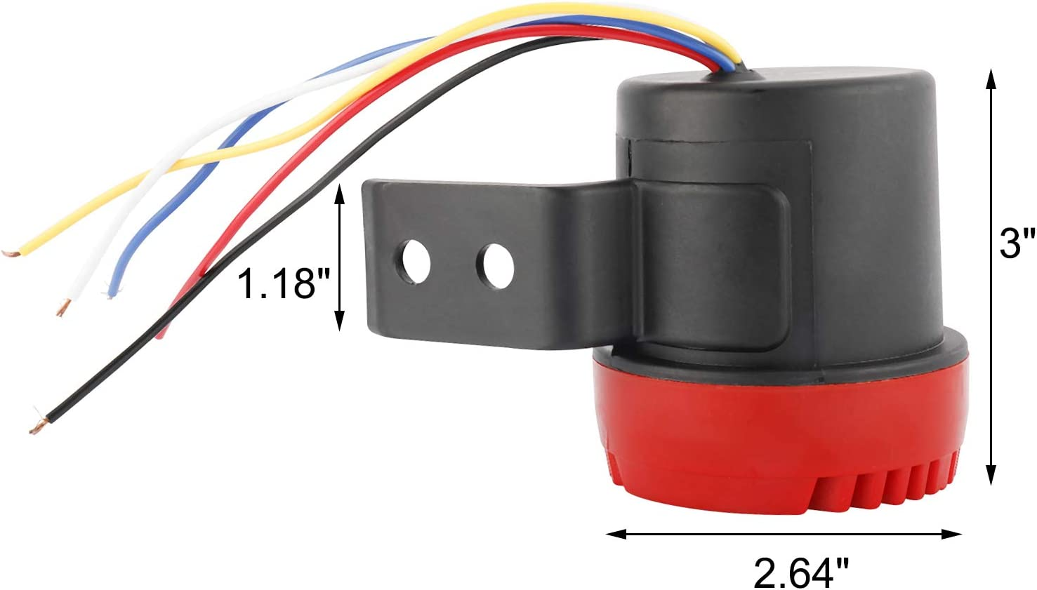 NovelBee 12V-24V 110db Car Air Horn Warning Alarm with Turn Right,Left and Back Up Alert Voice for Car,Truck