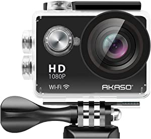 AKASO 1080P Sports Action Camera Full HD Camcorder 12MP WiFi Waterproof Camera