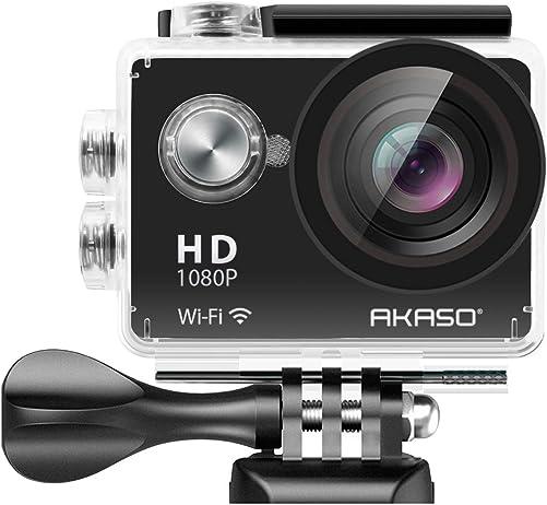 AKASO 1080P Sports Action Camera Full HD Camcorder 12MP WiFi Waterproof Camera
