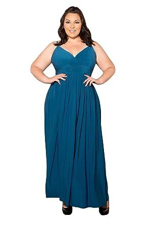 32d3c5d4278 Sealed with a Kiss Designs Plus Size SWAK Designs Womens Plus Size  Sleeveless Maxi Sabrina Maxi