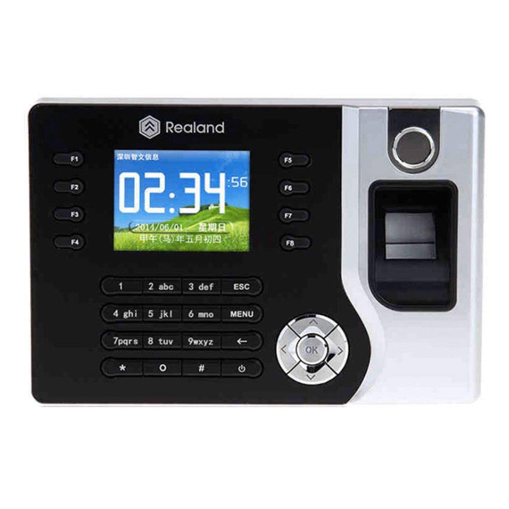 HFeng TCP / IP / USB Huella digital biométrica Registrador de reloj de tiempo Asistencia Empleado Máquina de lector de sacador electrónico Realand A-C071 ...
