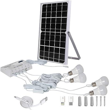 Bombilla De Luz Solar LED Kit De Iluminación De Energía Solar ...