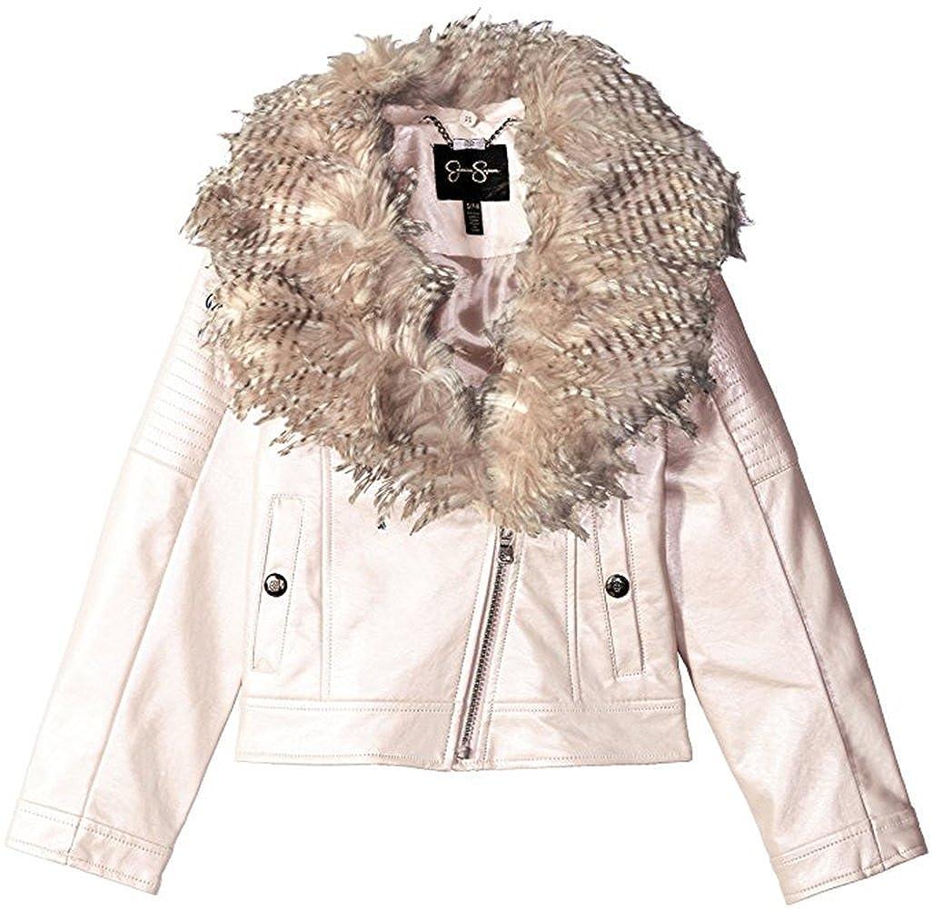 Jessica Simpson Girls Cozy Faux Leather Moto Jacket