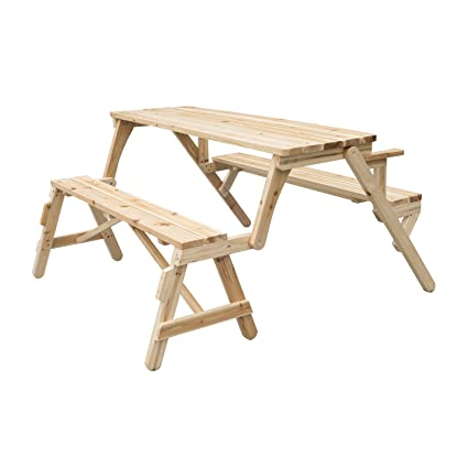 Awe Inspiring Outsunny 2 In 1 Convertible Picnic Table Garden Bench Ibusinesslaw Wood Chair Design Ideas Ibusinesslaworg