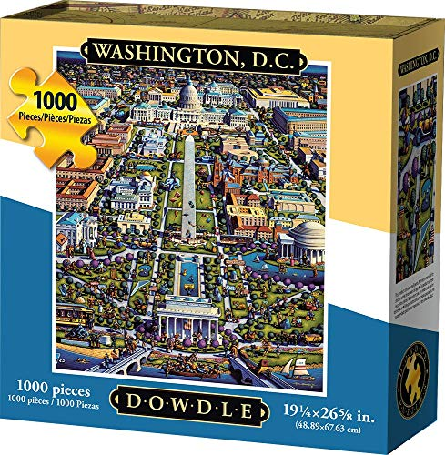 Dowdle Jigsaw Puzzle - Washington D.C. - 1000 Piece (Best Sights In Washington Dc)