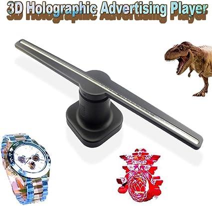 Proyector De Holograma 3D,3D Ventilador LED Proyección Inteligente ...