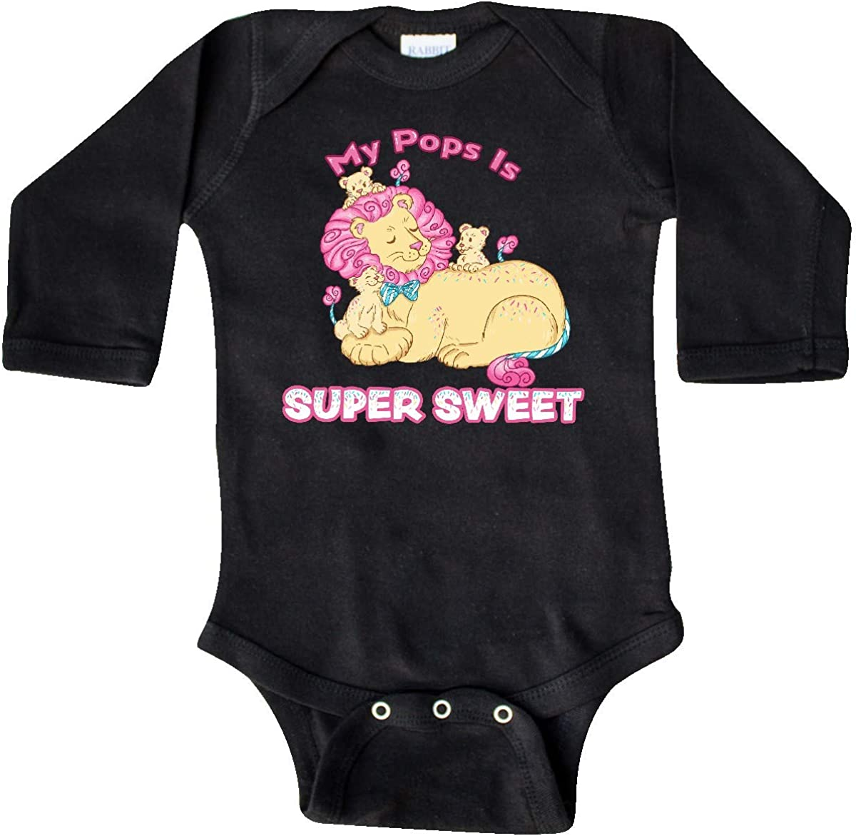 inktastic My Pops is Super Sweet Cotton Candy Lions with Long Sleeve Creeper