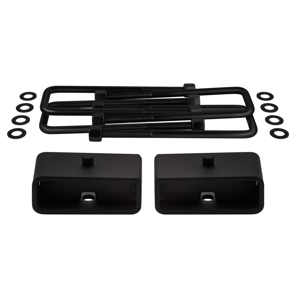 Axle Alignment Shims 2 Rear Lift Blocks Square Bend U-Bolts Full Lift Kit for 2007-2019 Silverado Sierra 1500 3.5 Front Lift Strut Spacers Supreme Suspensions