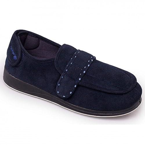 Padders - Zapatillas de estar por casa para mujer Azul azul marino: Amazon.es: Zapatos y complementos