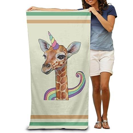 Unicornio Cuerno y jirafa toallas de baño toallas de playa de toallitas adultos suave absorbente