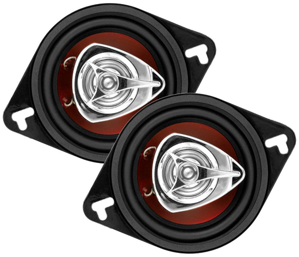 BOSS Audio CH3220 Car Speakers - 140 Watts of Power Per Pair and 70 Watts Each, 3.5 Inch, Full Range, 2 Way, Sold in Pairs, Easy Mounting