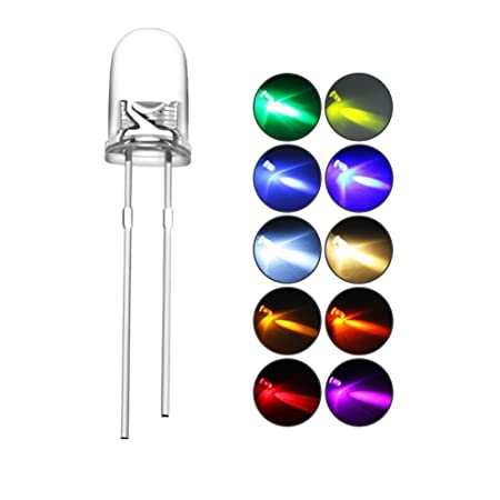 5mm Colorful LED 20pcs Bright Light Emmiting Diode Connected Sign Light Box