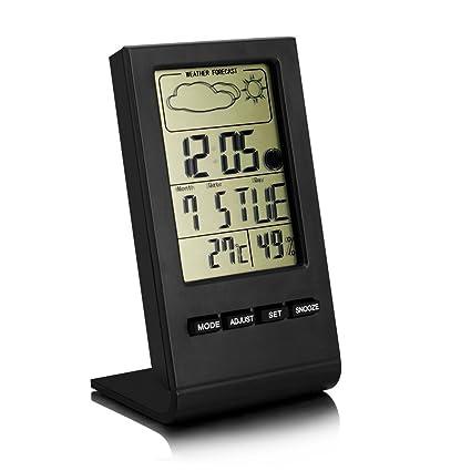 Multifuncional Termómetro e Higrómetro Digital Con Pantalla LCD Medidor Temperatura y Humedad con Alarma