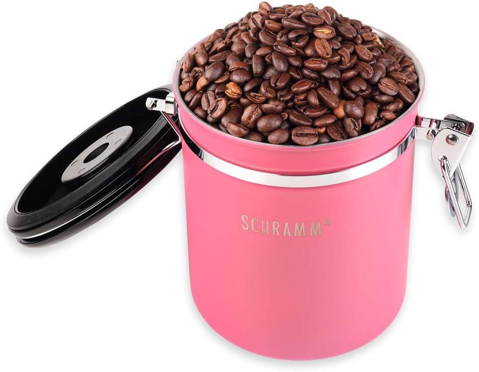 Farbe:Bronze Schramm/® Kaffeedose 1500 ml in 10 Farben w/ählbar mit Dosierl/öffel Kaffeedosen Kaffeebeh/älter aus Edelstahl mit Aromaverschluss luftdicht Aromadose Vorratsdose
