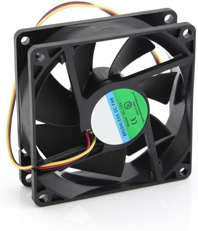 DC 12 V 3 pin 80 mm 8 cm PC procesador ordenador caja de ...