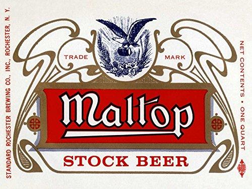 Maltop Stock Beer - Maltop Stock Beer by Vintage Booze Labels 26