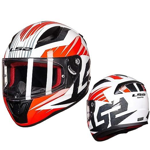ZDHG Casco Integral Moto,Casco Protector De Motocicleta ECE ...
