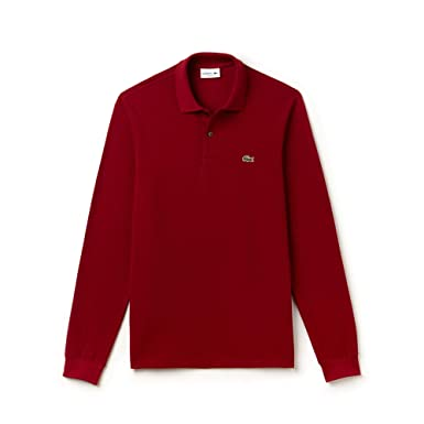 8f47f71d87 Lacoste Men's Classic Fit Long Sleeve Polo Shirt Bordeaux at Amazon ...