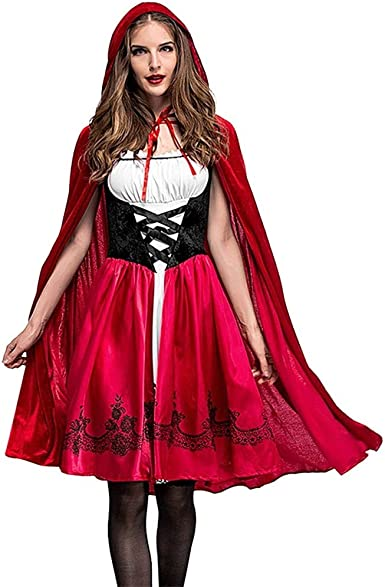 Amazon Com Clearance Gothic Dress Forthery Women Sexy Little Red