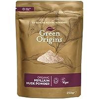 Green Origins Organic Raw Psyllium Husk Powder 99% Pure, 250 g